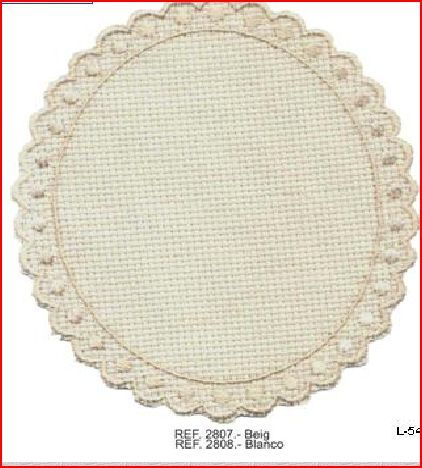 Aplique bordado oval gr beige