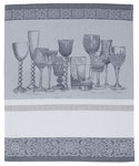GRAY DMC kitchen cloth. To embroider in cross stitch.