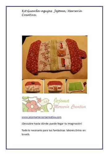 Kit Casita Guarda-agujas. KIT PATCHWORK.