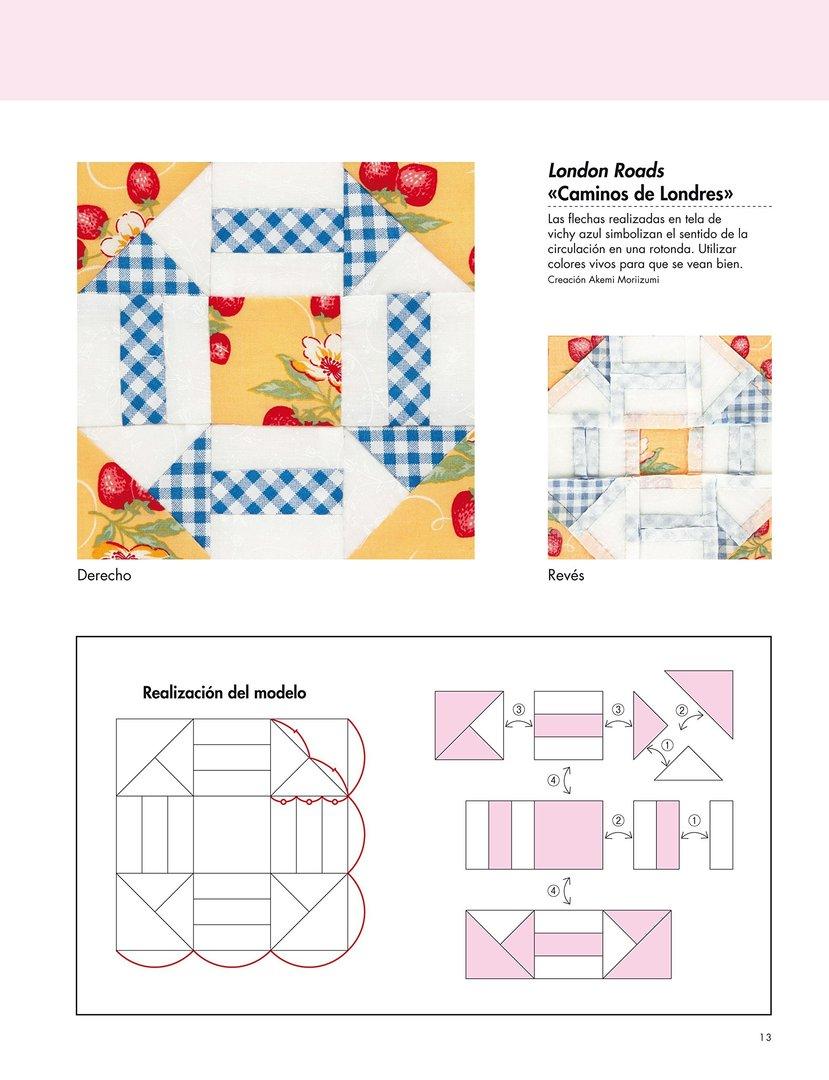 163 bloques de patchwork con patrones a tama o natural y - Proyectos de patchwork ...