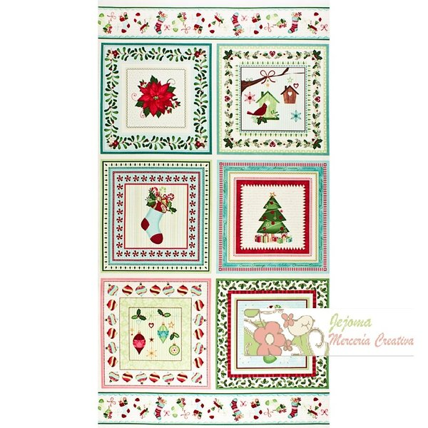 Home for the Hollidays. Bernatex. Panel estampas navidad 60x110