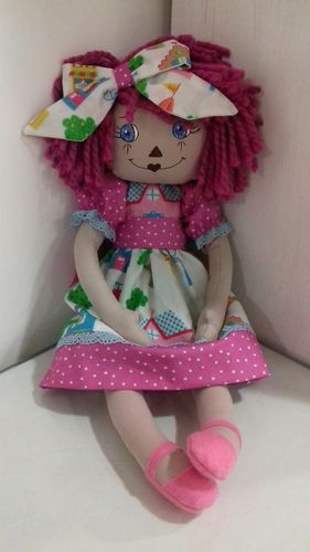Kit Raggedy Doll Pink. (All materials included also painted face)