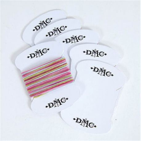 Bobbin card plastic bag, DMC 6 pcs