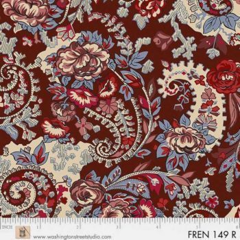 FRENCH PAISLEY. Cachemire sfondo marrone.
