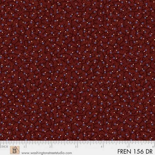 FRENCH PAISLEY. Mini motivi bordeaux.