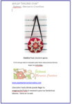 KIT FOLDED STAR BAG RED PS61 (Pattern included) Hand holder included.